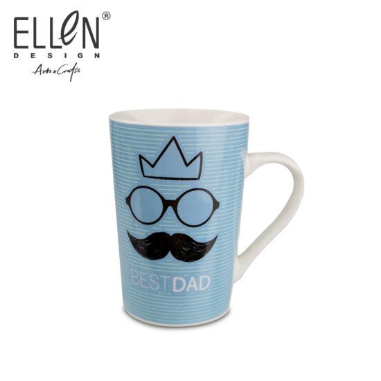 Porcelain Father's Day Blue Coffee Mug