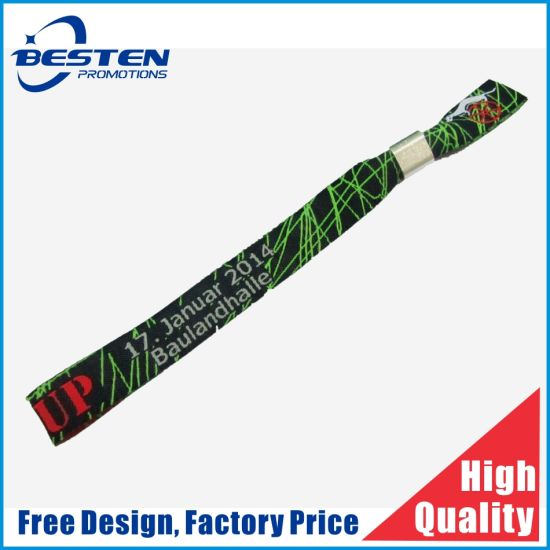 OEM Wholesale Custom Woven Polyester Active Fabric Wristband
