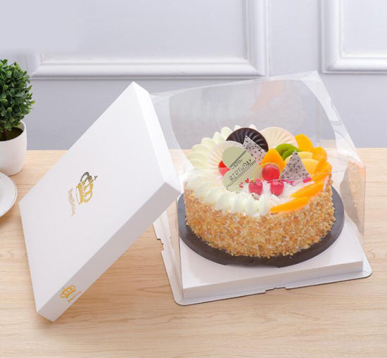 Swell China Custom Cake Packing Box Single Layer Transparent Birthday Funny Birthday Cards Online Inifofree Goldxyz