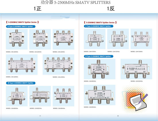 5-2500MHz Satellite TV Splitter (SHJ-A202SA) pictures & photos