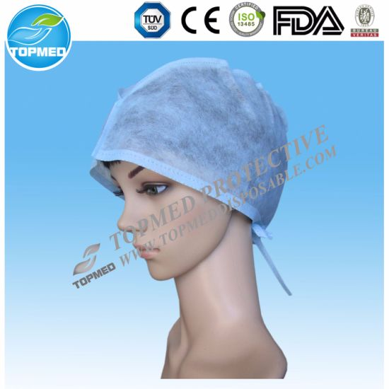 Disposable SMS SBPP Doctor Cap/Nonwoven Surgical Cap with Ce Certificate pictures & photos