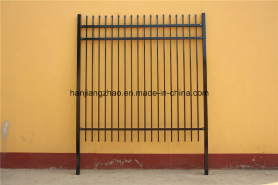 Powder Coated Pre Galvanized Spear Top Security Garrison Steel Fence China