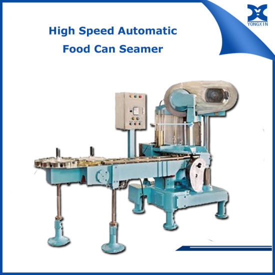 Automatic Food Tin Can Packaging Machine Vacuum Seamer pictures & photos