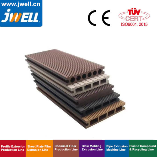 Jwell WPC PP/PE/PVC Wood Plastic Profile Extrusion Equipment