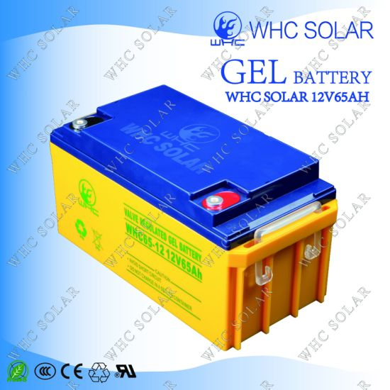 Used Rechargeable Free Maintenance 12V 65ah Motorcycle Battery pictures & photos