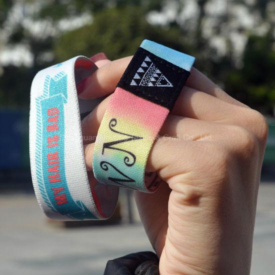 Wholesale Custom Logo/Design Promotional Fabric Bracelets Wristband