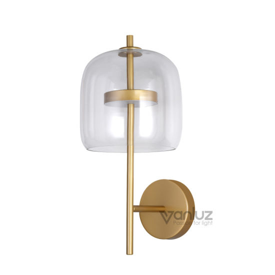 LED Wall Lamps with Round Shape Glass Decorative LED Indoor Lighting