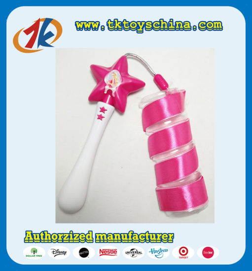 Funny Plastic Star Shaped Ribbon Dancing Stick Toy