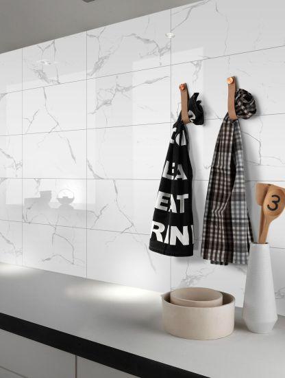 Non-Slip Carrara Marble Porcelain Floor Tile