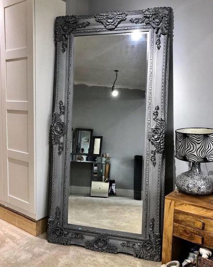China Antique Carved Louis Style Large Leaner Floor Mirror China