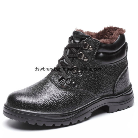High Cut for Industrial with Construction Smooth Leather Safety Shoes