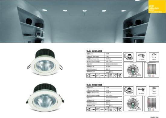 5W LED Down Light Adjustable Ceiling Embedded COB LED Downlight pictures & photos