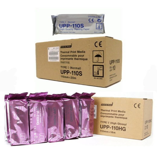 High Density Medical Upp 110s Upp110s 110hg 100 Hg Sony Printing Examination Ultrasound Thermal Papers Roll for Video Printer