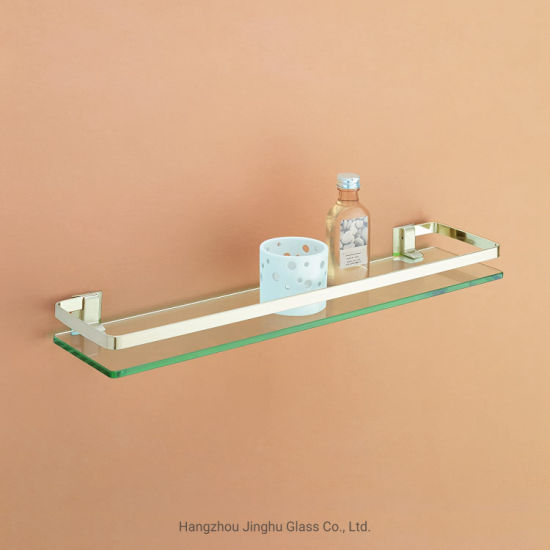 Chinese Manufacturer 6mm 8mm Bathroom Glass Shelf for Home Decoration
