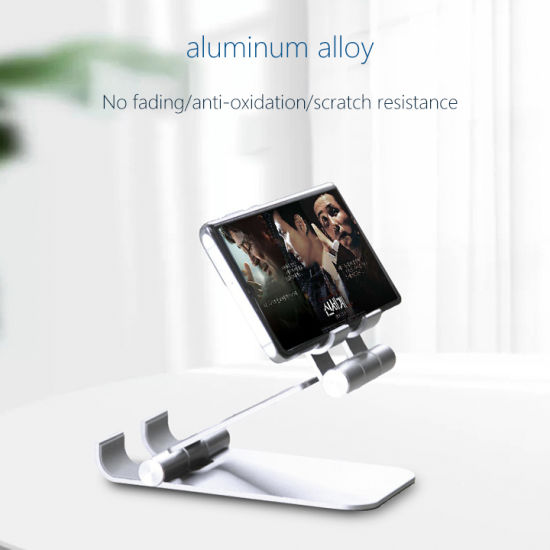 Foldable Adjustable Cellphone Holder Two-in-One Desktop Mobile Phone Stand