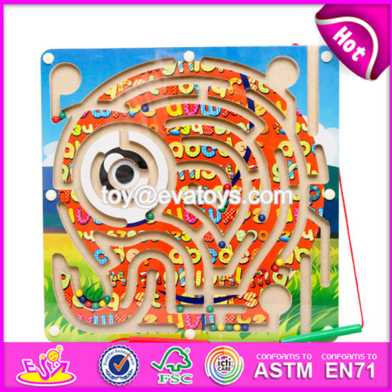 China New Products Kids Educational Toy Wooden Magnetic Maze