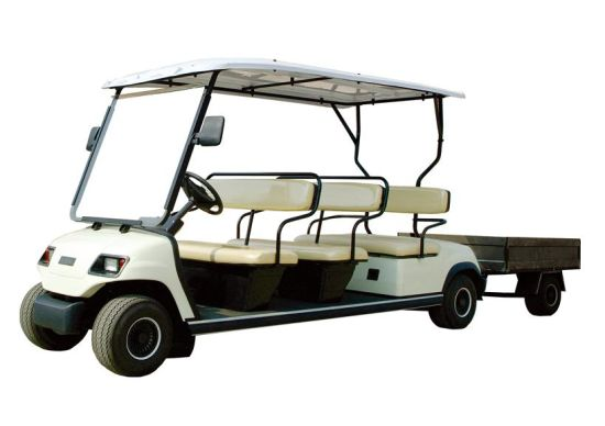 White 8 Seaters Electric Sightseeing Car