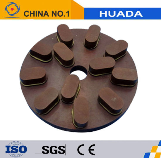 Metal Bond Floor Grinding Polishing Pad Diamond Abrasives for Concrete pictures & photos