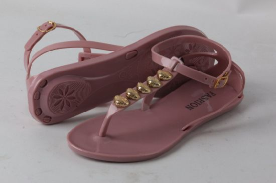 Women Fashion Style PVC Jelly Sandal