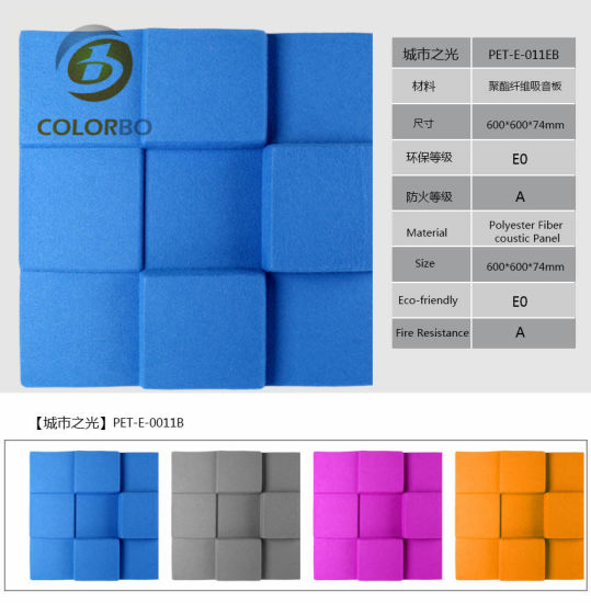 Solid Surface and Fireproof Soundproof Polyester Fiber Product for Home Theater. pictures & photos