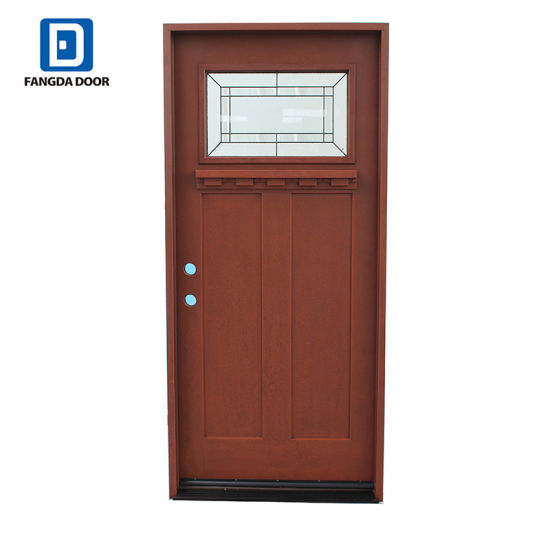Fangda New Design Wood Grain Best Fiberglass Entry Doors China