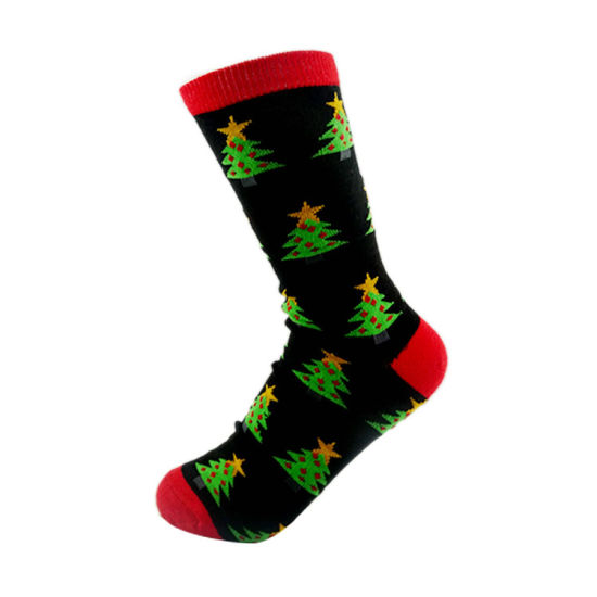 best price fashion custom pattern men christmas tube sock - Christmas Socks For Men