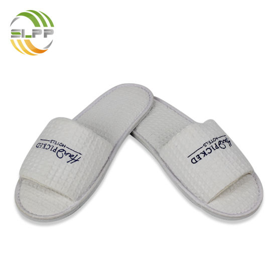 0eabfadc343 Wholesale Waffle Dew Toe EVA Hotel Slipper with Embroidery Logo. Get Latest  Price