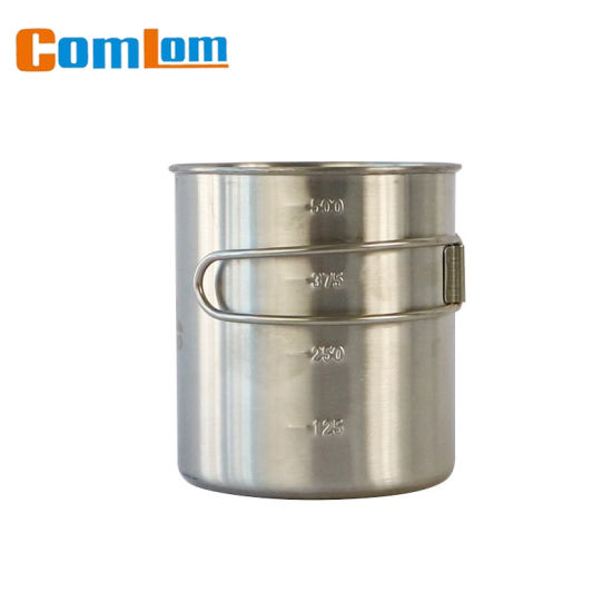 607d12dbaad CL1C-M37-A Comlom Stainless Steel Camping Mug With Scale Mark pictures &  photos