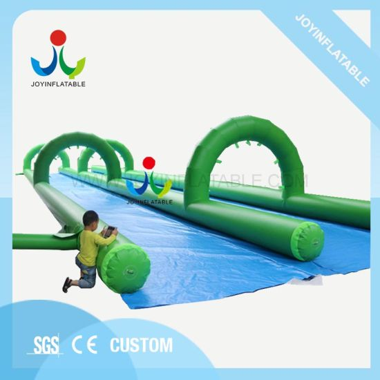 Outdoor Long Double Lane Fun City Inflatable Slip Water N Slide for Adults