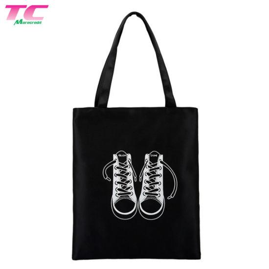 Black Heavy Duty Canvas Tote Bag Man & Woman Reusable Tote Bag