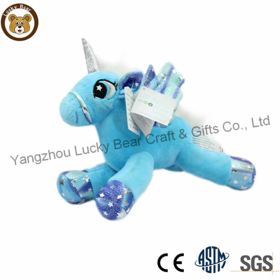 Custom Hot Baby blue Unicorn Plush Soft Stuff Doll Toy pictures & photos
