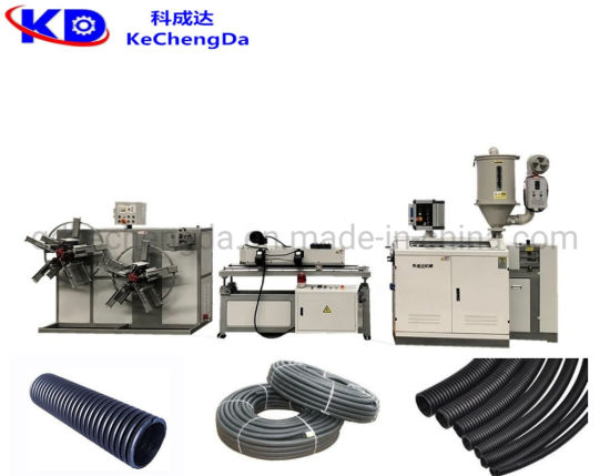 Plastic HDPE PE PP PVC Single Wall Corrugated Pipe Soft Tube Extrusion Production Machine / Plastic Electric Wire Conduit Pipe Making Machine Production Line