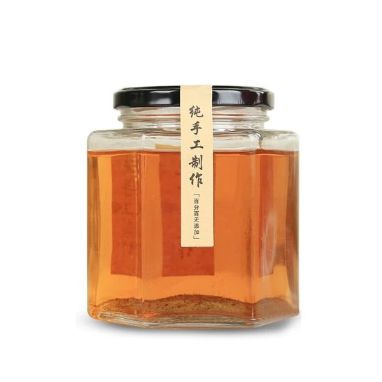 50ml-780ml Hexagon Shape Food Glass Jar Honey Jar with Lid pictures & photos