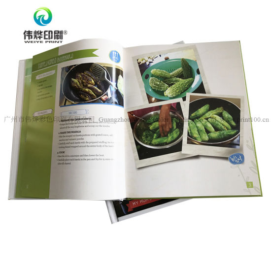 china custom hardcover menu booklet book brochure printing china