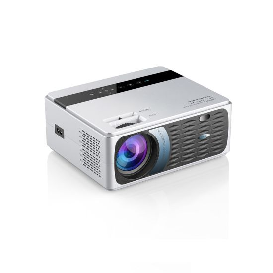 High Quality 200ANSI Lumens HD 4K LED Mini Projector Cp600 Speaker Built in