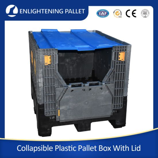 1200*1000*975mm Heavy Duty Plastic Collapsible Bulk Containers/Folding Plastic Pallet Box