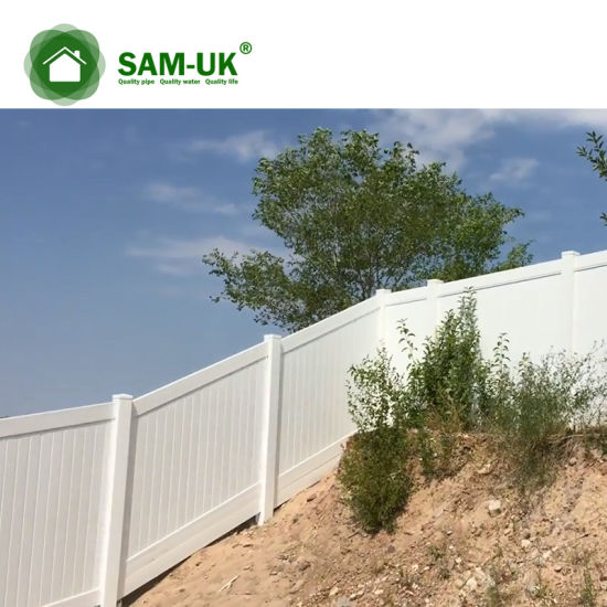 6' X 8' Vinyl Privacy Fence with Ornamental Top Section Garden Zone
