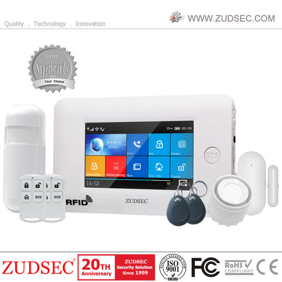 Wireless WiFi 3G GSM Home Smart Intruder Burglar Security Alarm System with APP Control