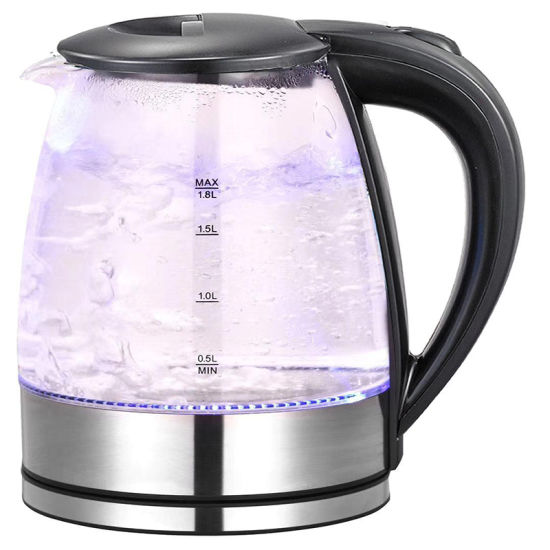 1.8/2.0L Stainless Steel Heater Glass Electrical Kettle Sk-G21