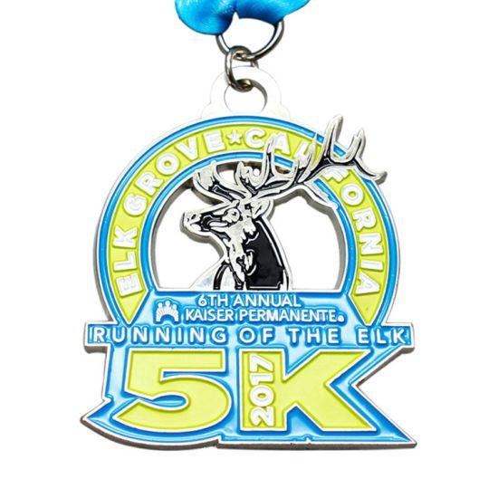 Factory Cheap Custom Made 5K 10K Running Race Award Metal Finisher Sports Medal