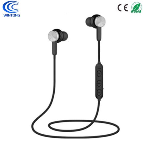 Free Sample Waterproof Wireless Bluetooth in-Ear Earphones with Microphone Black