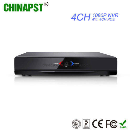 H. 265 4CH 1080P Poe Video Recorder NVR (PST-NVR004P) pictures & photos