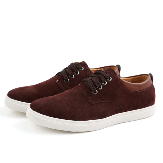 Leisure Board Shoes Cow Leather Shoes