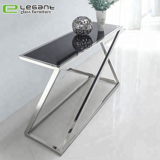 Stainless Steel Console Table/Tempered Glass Shelf -Ca208s pictures & photos