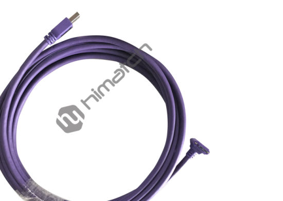 5m High Flexible USB 3.0 a to Micro B Angled Cable with Lock Screw Industrial Camera Cable pictures & photos