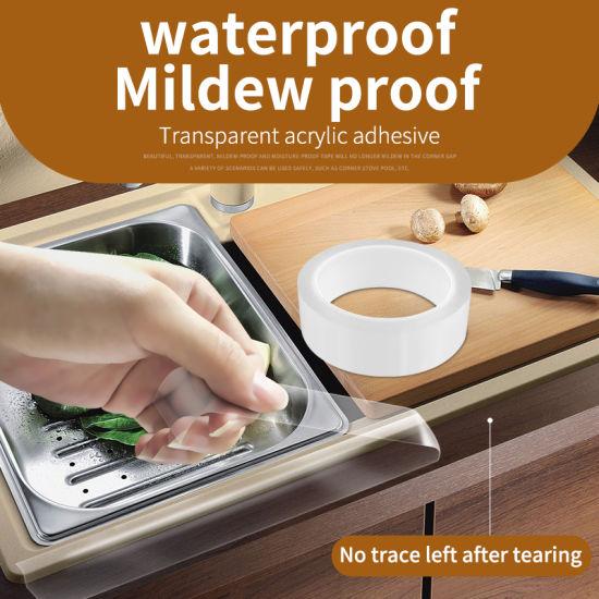 China Waterproof Kitchen Sink Basin Edge Mildew Wall Sealing Strip Sealant Tape China Waterproof Tape Mildew Tape