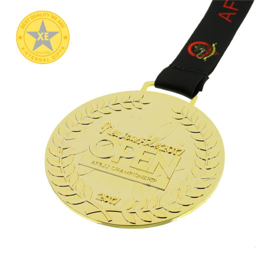 China Professional Manufacturer Ribbon or Custom Fittings Metal Sport Medals pictures & photos