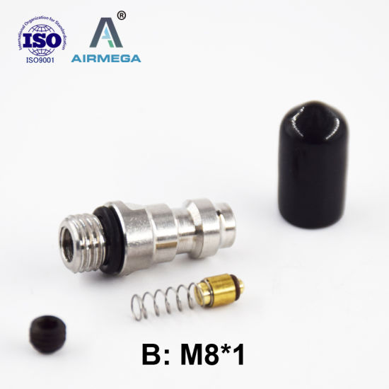 Air Gun Fill Nipple Kit Male Quick Disconnect 1/8 BSPP / NPT for 5000 Psi