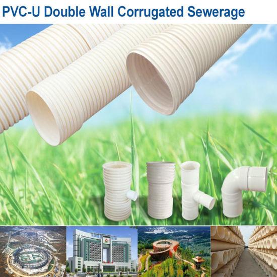Sn4 Sn8 Dual Wall Corrugated UPVC Drainage Fittings Bellow Tube