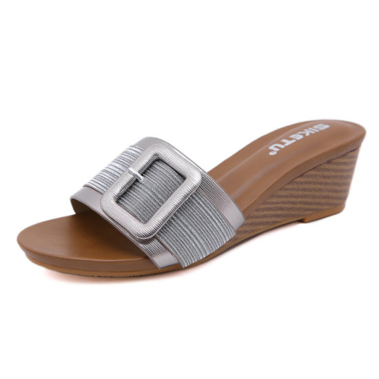 Wholesale Fashion Women Shoes Summer Slippers High Heels Ladies Shoes Lady Shoes Sandals